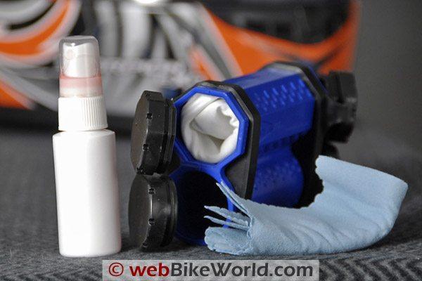 Clear Shot Motorcycle Helmet Visor Cleaner