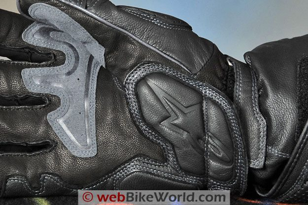Alpinestars Storm Rider Gloves - Palm Close-up