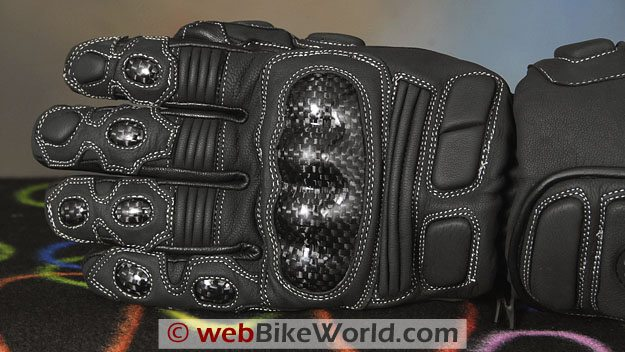 British Motorcycle Gear BMW Thermosport Winter Motorcycle Gloves - Top View