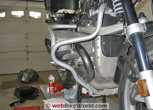 Motorcycle Crash Bars - Front View