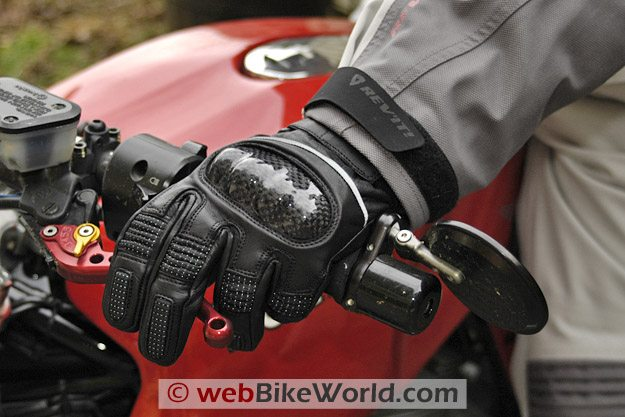Firstgear Carbon Heated Waterproof Motorcycle Gloves