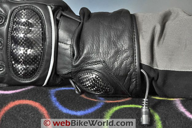 Firstgear Carbon Heated Gloves - Gauntlet and Wiring