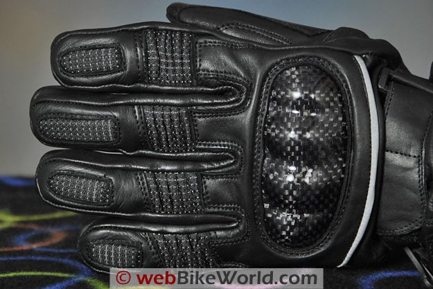 Firstgear Carbon Heated Gloves - Finger Close-up