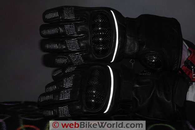 Firstgear Carbon Heated Gloves - Reflectivity