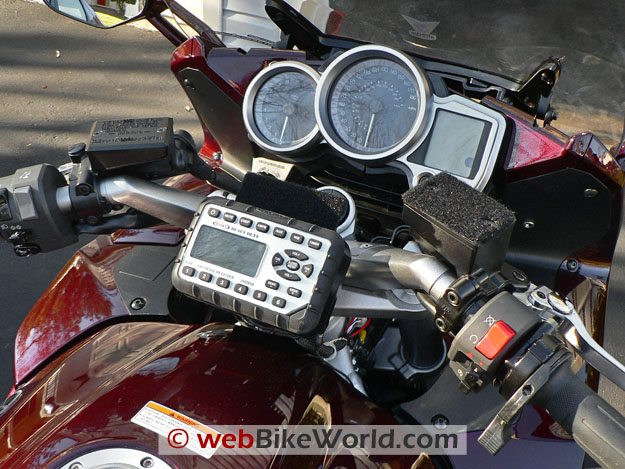 Jensen JHD910 Motorcycle Radio - Dashboard Mounting