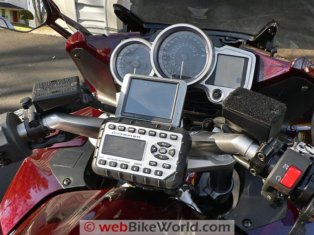 Jensen JHD910 Motorcycle Radio - Completed Installation