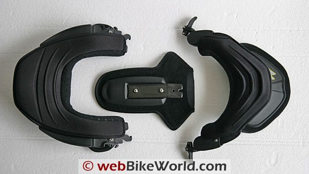 Leatt Brace Parts from Above