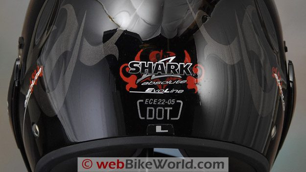 Shark Evoline Helmet - DOT and ECE Approval