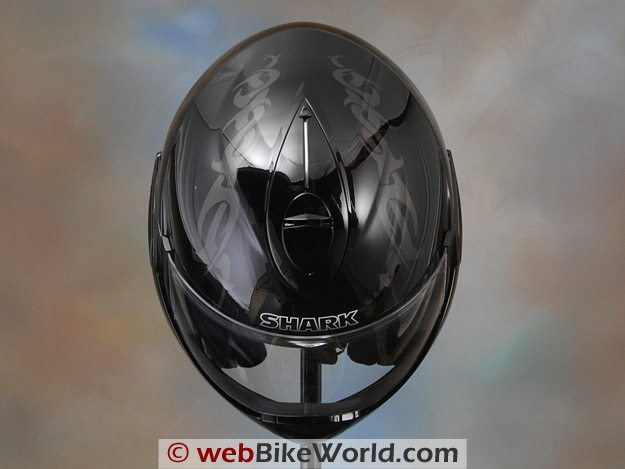 Shark Evoline Helmet - Top View