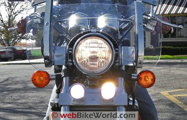 Motorcycle Driving Lights Turned On
