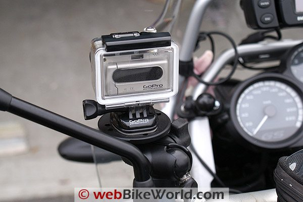 GoPro Wide Camera on Handlebar Mount, Rear View