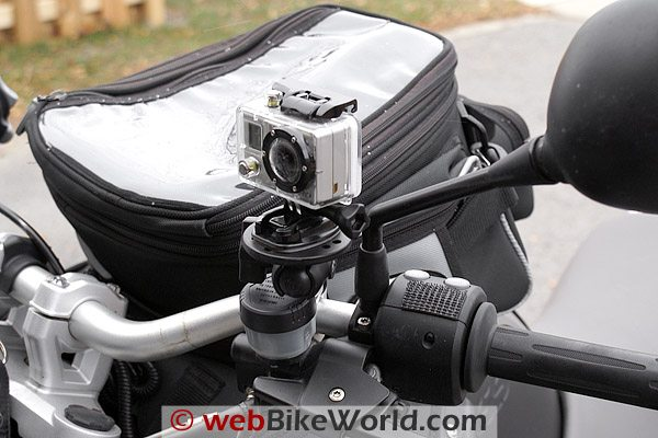 GoPro Wide Camera on Handlebar Mount, Front View