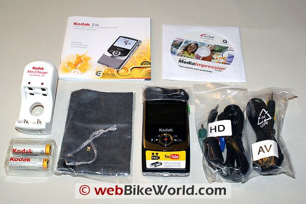 Kodak Zi6 HD Camera - Kit Parts
