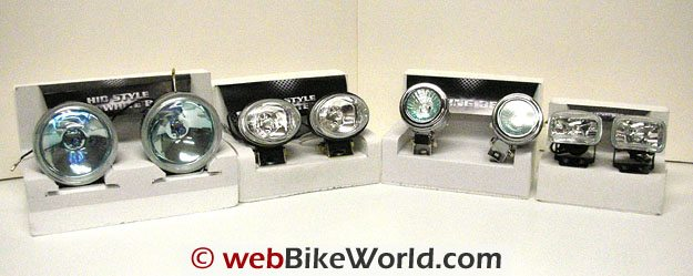 Selection of Motorcycle Driving Lights