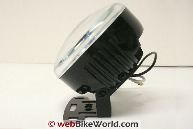 Platinum Burner Motorcycle Driving Light Kit - Side View