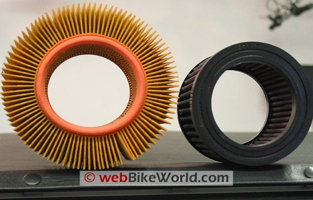 K&N Air Filter Compared to BMW Original Equipment Air Filter