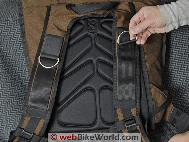 "Chrome ""Pawn"" Backpack - Rear Straps and D-Rings"
