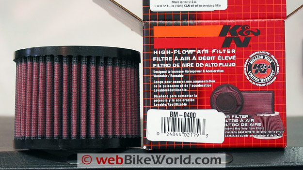 K&N Air Filter Close-up