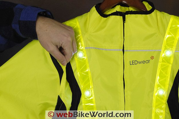 LEDwear LED Safety Jacket - Removable Sleeves