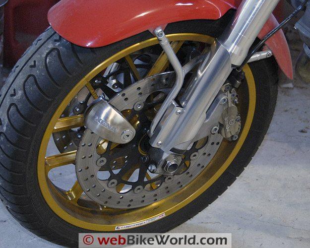 Xena XX14 Disc Alarm - On Motorcycle