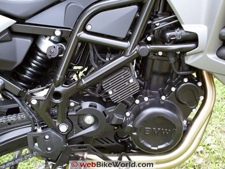 BMW F800GS Review - Engine, Right Side Close-up