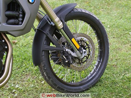 "BMW F800GS Review - Front 21"" Wheel"