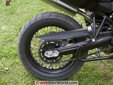 BMW F800GS Review - Rear Wheel