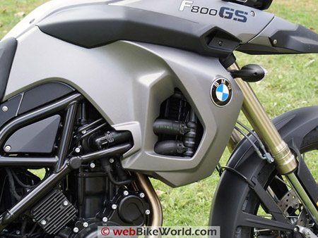 BMW F800GS Review - Engine, Right Side