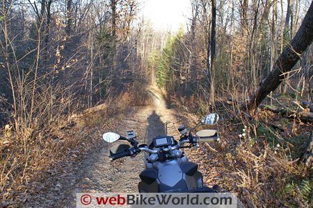 BMW F800GS on the Trail