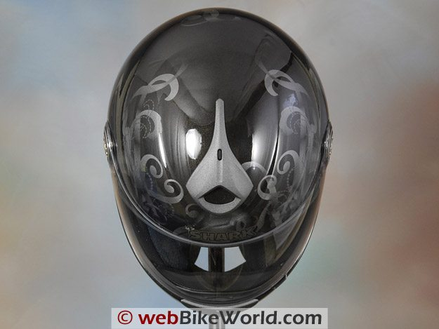 Shark RSF3 Motorcycle Helmet - Top View