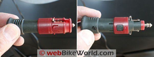 The AirMan compressor also has a dual-use, convertible electric adapter.