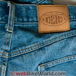 Cortech DSX Motorcycle Jeans Upside-down label