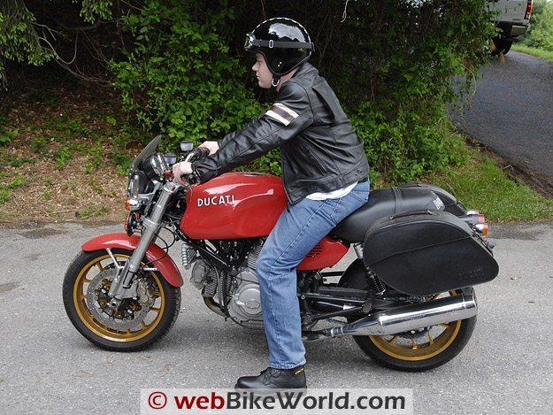 Davida Classic Jet on Motorcycle