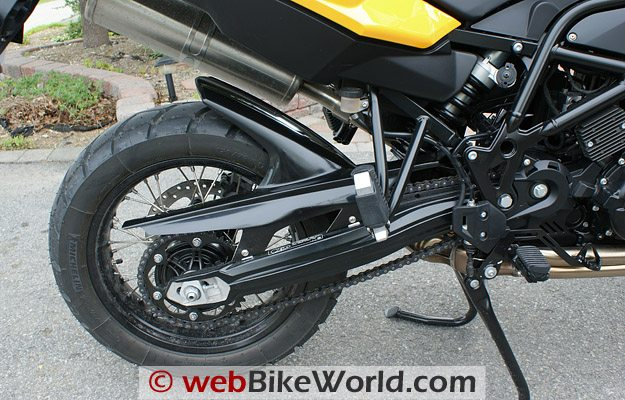 Hornig Mudguard Hugger - Left Side of BMW F800GS