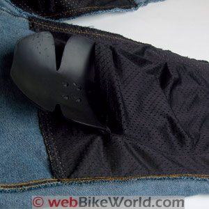 Inserting Armor in Cortech DSX Motorcycle Jeans
