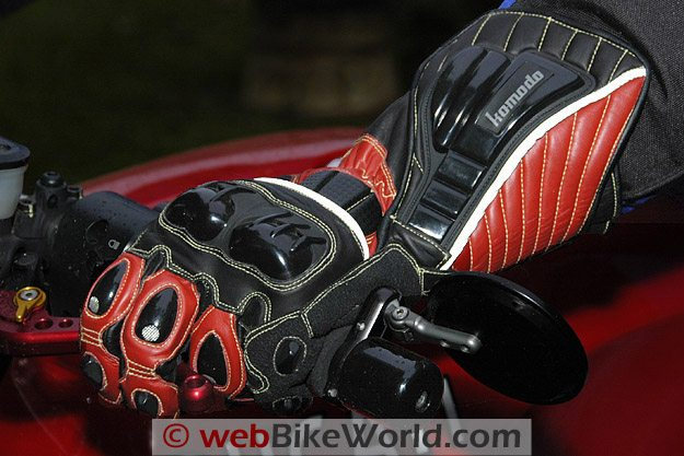 Komodo K-FX Race Gloves - On the Motorcycle