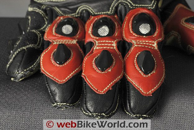 Komodo K-FX Race Gloves Fingertips and Stitching