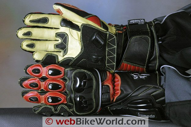 Komodo K-FX Race Gloves - Top and Bottom