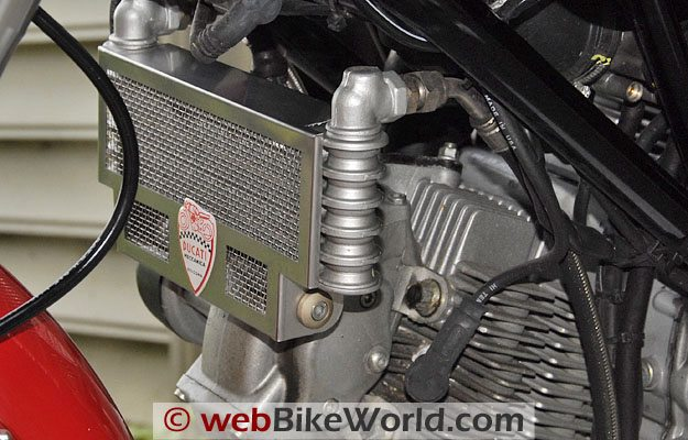 Ducati Sport Classic Radiator Guard - Left Side
