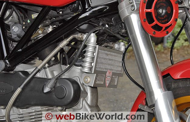 Ducati Sport Classic Radiator Guard, Left Side