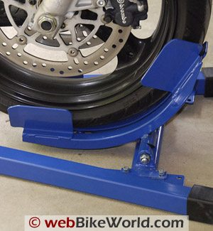 Titan Bulldog Moto Cradle Motorcycle Wheel Chock - Wheel Cradle