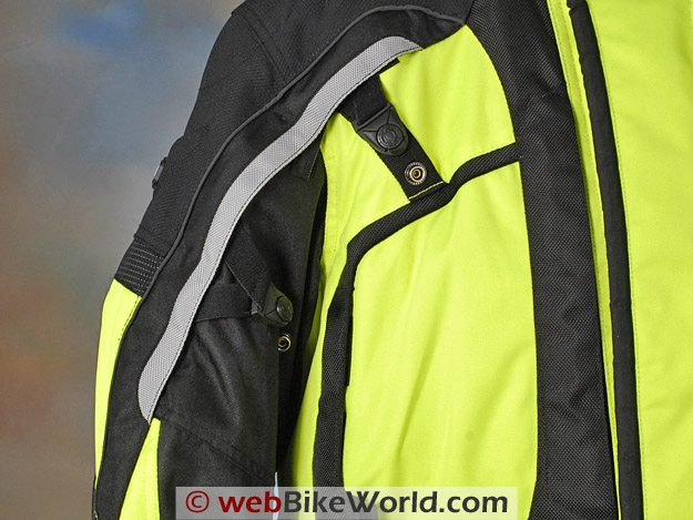 Tourmaster Epic Jacket - Arm Adjusters and Vents