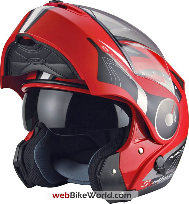 Zeus ZS-3000A Flip-up Helmet in Open Position