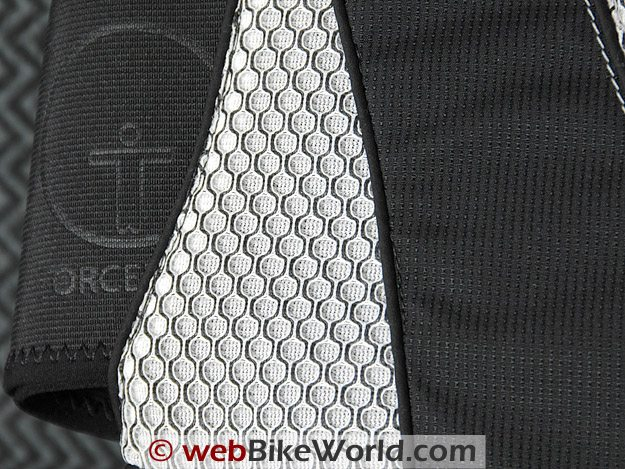 Close-up of fabric and stitching on the Forcefield Pro Sub 4.