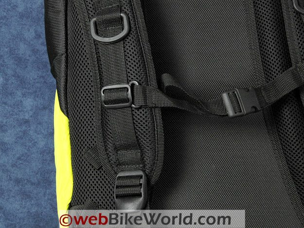 Road Sack Backpack - Close-up of shoulder straps