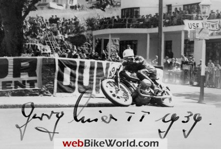 Schorsch Meier at the 1939 Tourist Trophy on the BMW Kompressor