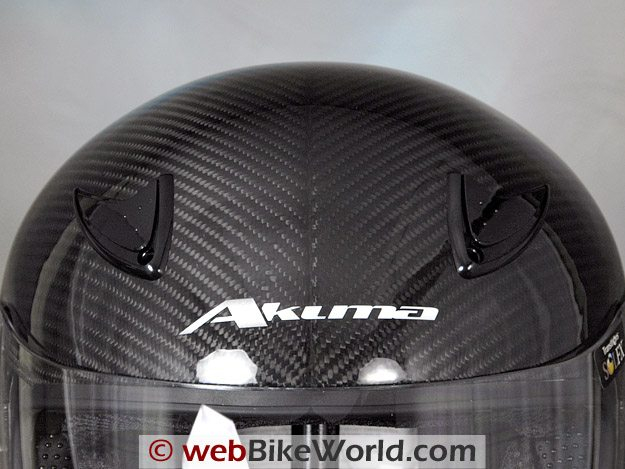 Akuma Phantom II Helmet - Top Vents