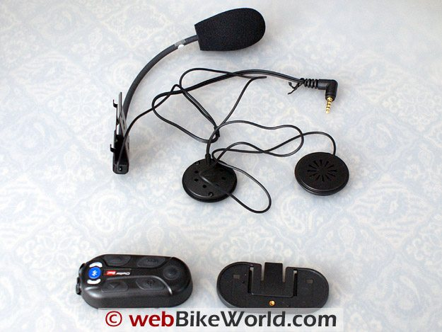 Chatterbox XBi intercom module, mounting bracket and headset.