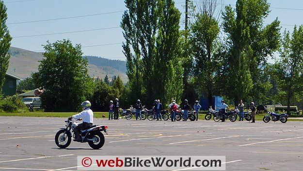 Motorcycle Safety Foundation MSF Basic RiderCourse - Instructor Demonstration