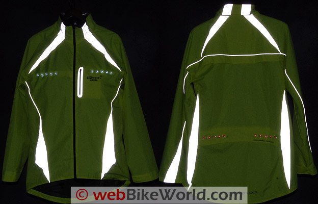 LEDwear Aurora LED Jacket Reflectivity